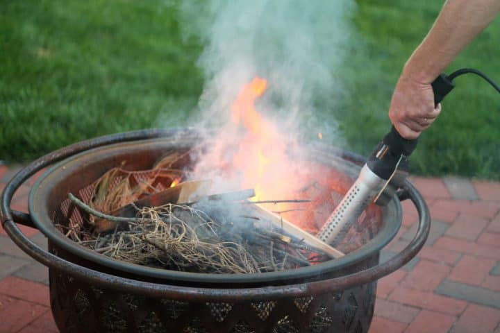 fire pit with the electro light