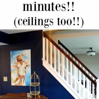 how to paint a room and ceilings in only minutes