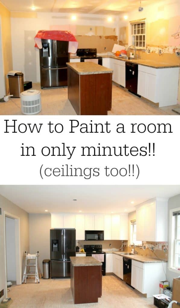 how to paint a room in only minutes