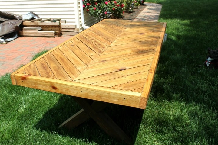 picnic table from tree fort