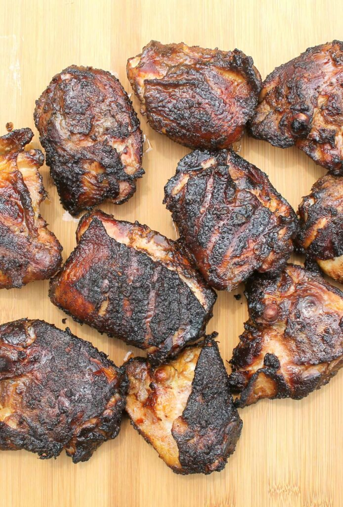 smoked chicken with a dry rub