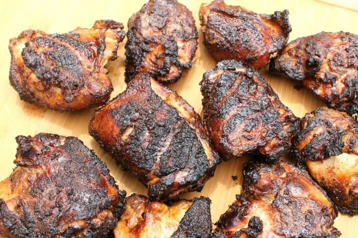 smoking chicken with a dry rub