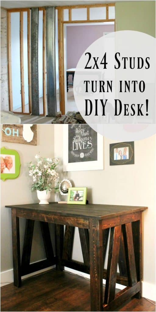 DIY Desk using 2x4 studs