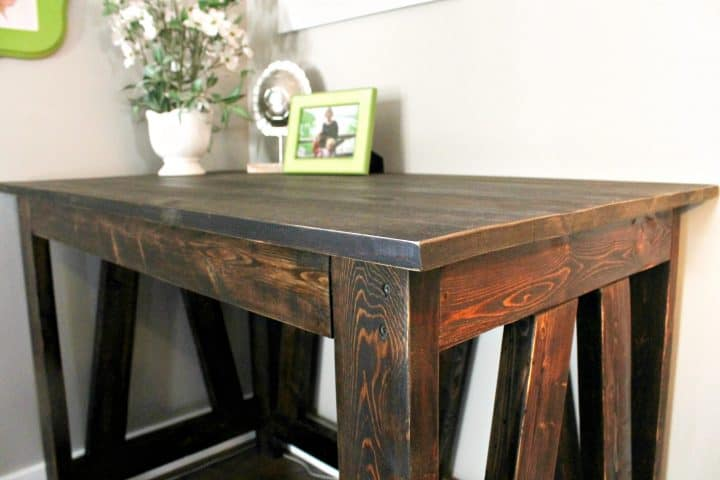 DIY Desk with distressed edges