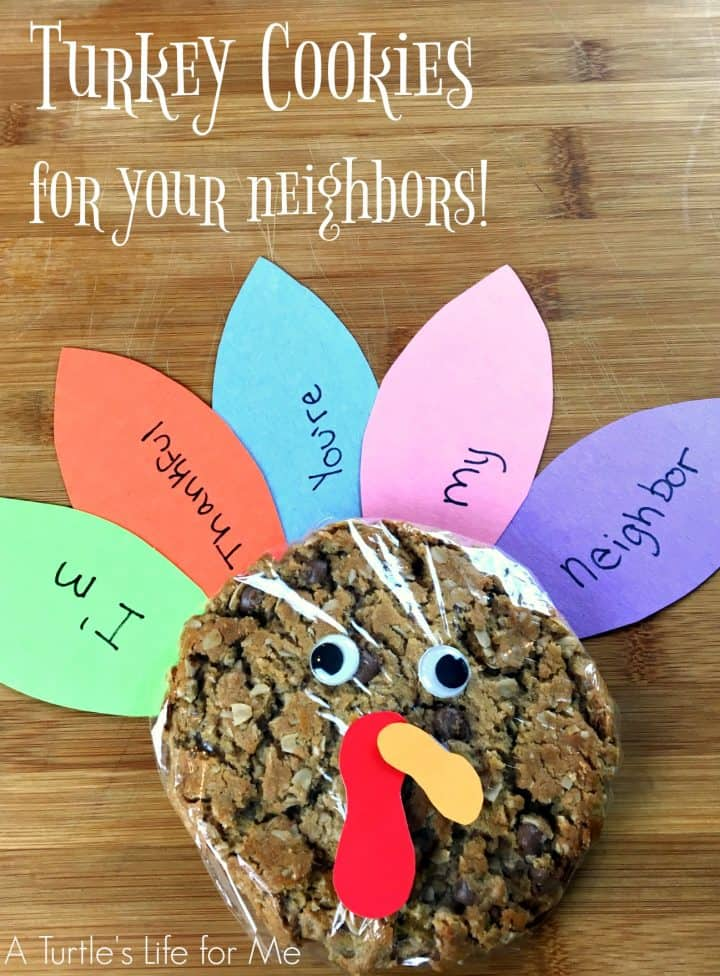 Make these adorable turkey cookies to show how thankful you are for your neighbors!
