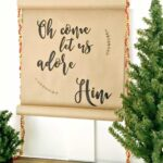 Hand Lettered Holiday Scroll