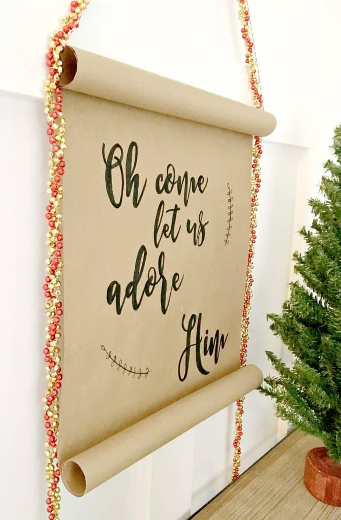 Hand Lettered Holiday Scroll A Turtle S Life For Me