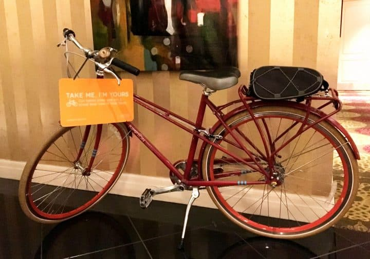 bike at the kimpton Baltimore