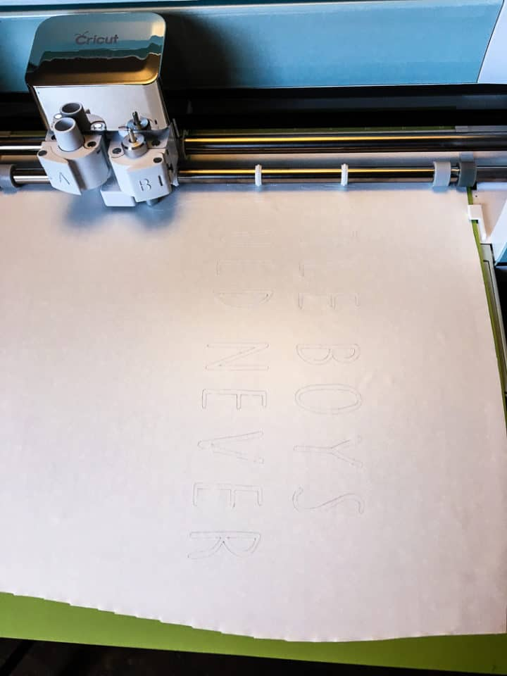 How to make a Cricut vinyl stencil for a sign