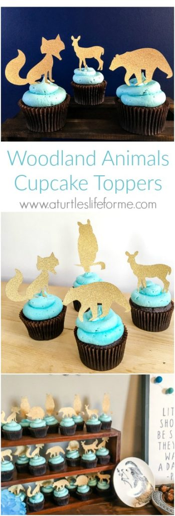 Woodland Animals Cupcake Toppers with Cricut