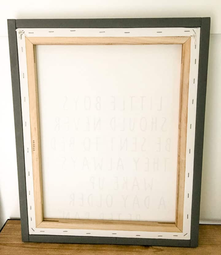how to frame a canvas