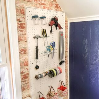pegboard organization for office