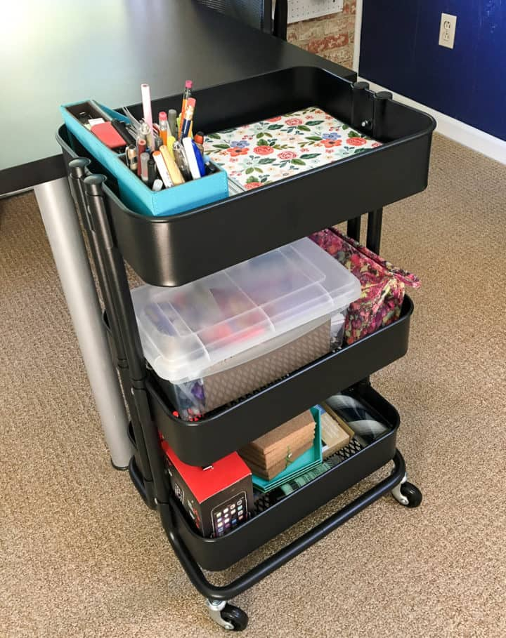 rolling cart for office