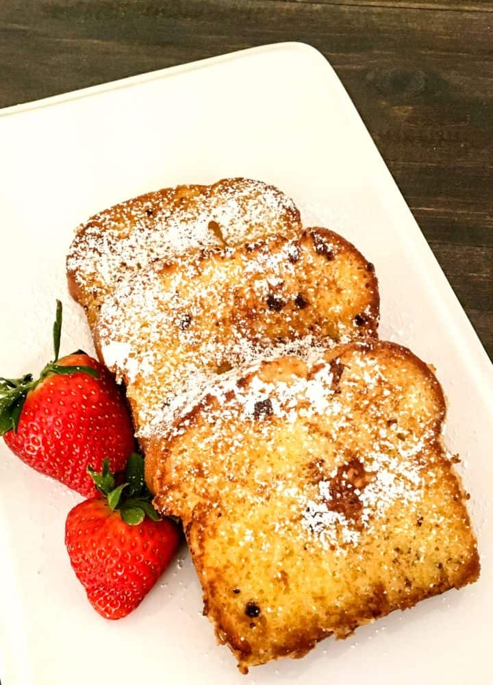 Pound Cake French Toast with Strawberries
