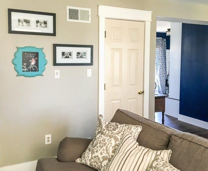 basement door before paint