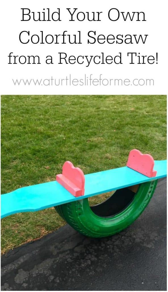 How to build a seesaw from a recycled tire and scrap wood!