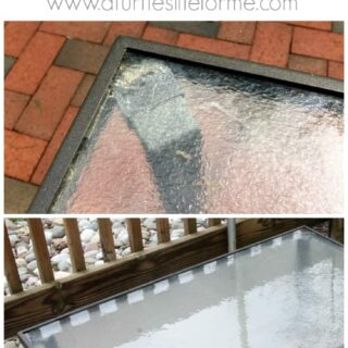 How to clean patio furniture with no harsh chemicals using a steam machine