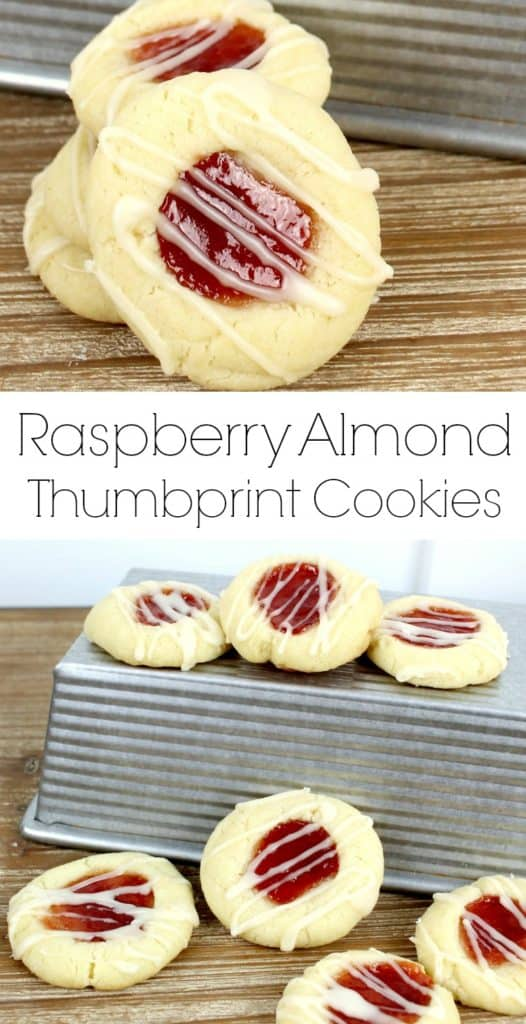 Raspberry Almond Thumbprint Cookies Recipe