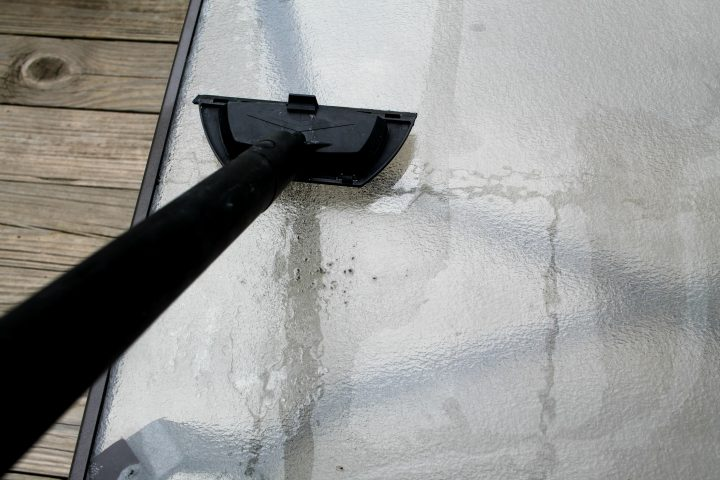Cleaning Patio Furniture with a steam machine