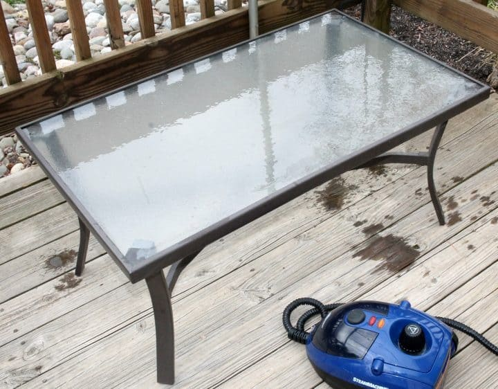 Cleaning Patio Furniture with Homeright Steam Machine