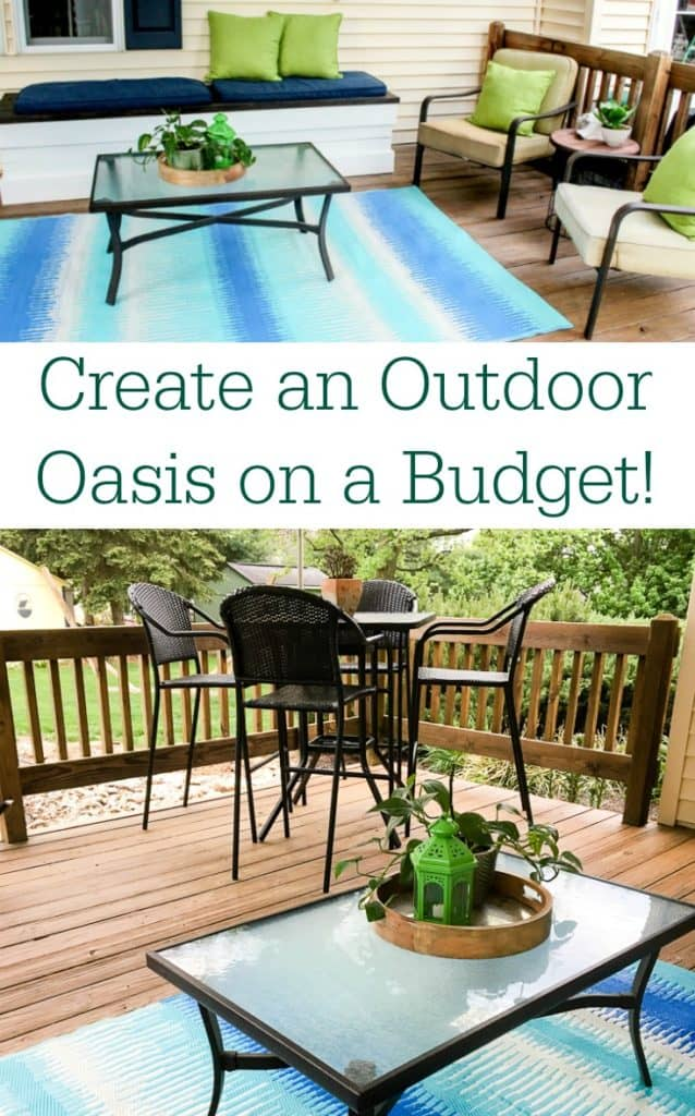 Tips for how to create an outdoor oasis on a budget