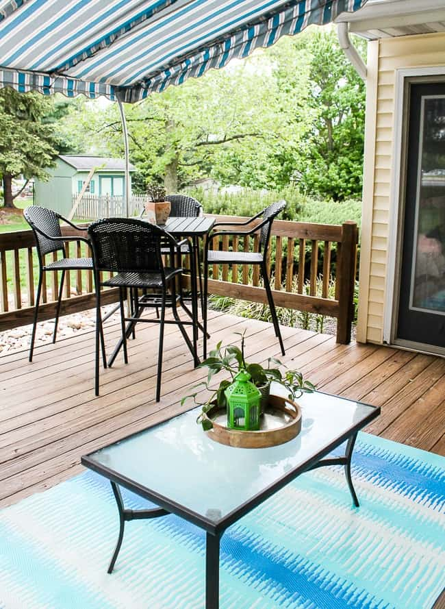 creating conversation areas for deck makeover