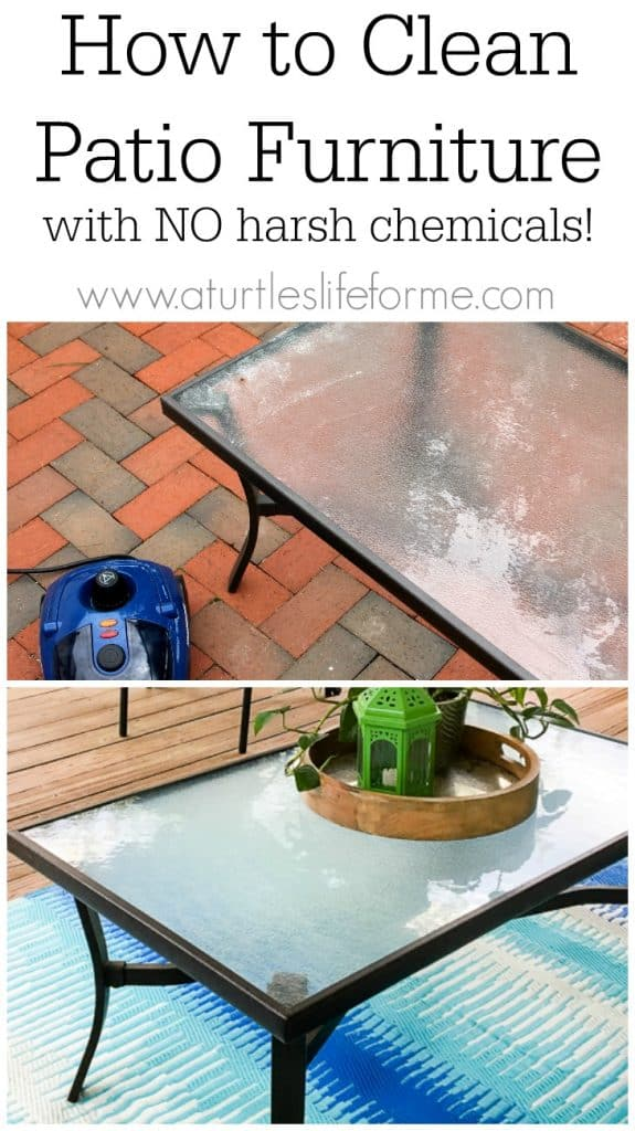 how to clean patio furniture with no harsh chemicals
