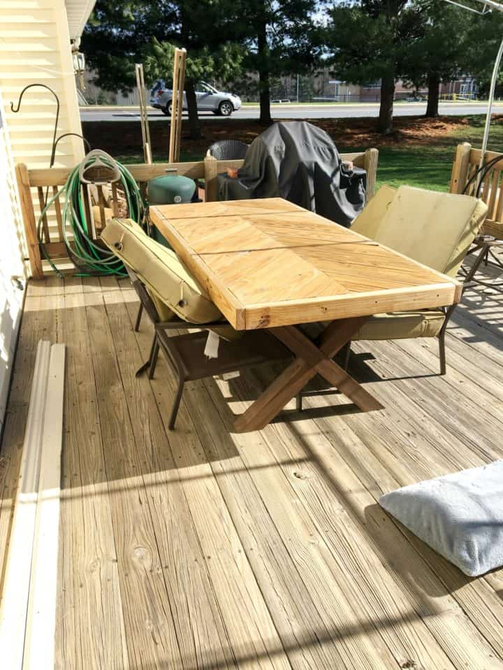 wood deck before staining