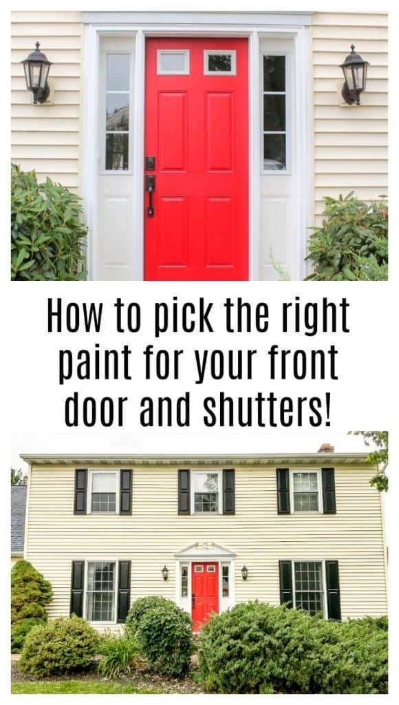 How To Pick The Right Paint For Your Front Door And Shutters