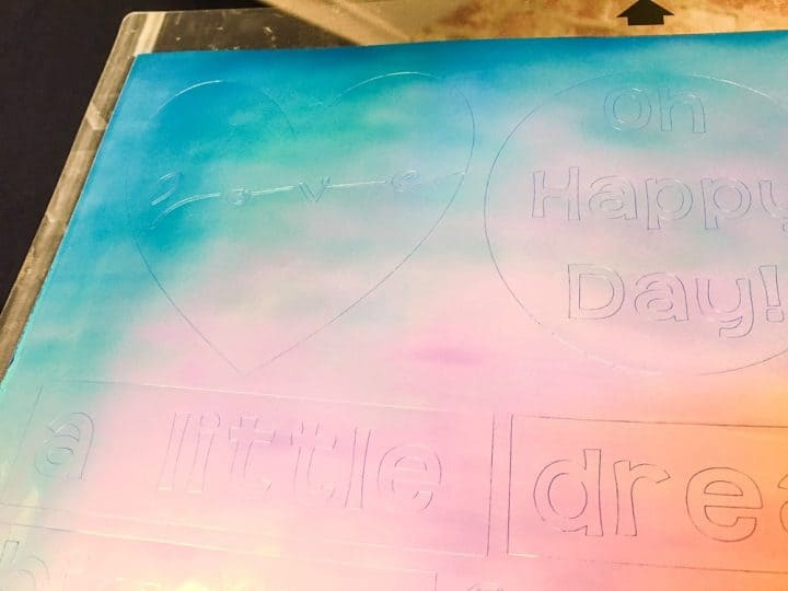 how to use foil vinyl with Cricut