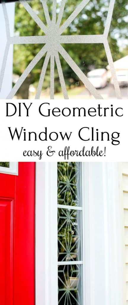 How to DIY window cling for sidelights