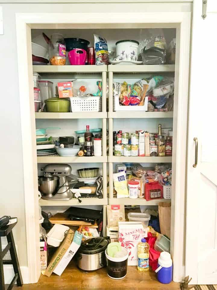 pantry before diy remodel