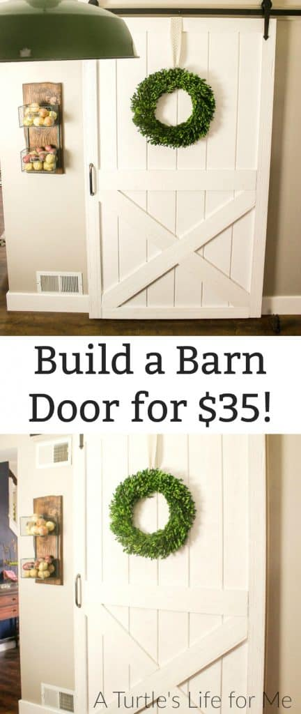 How to Build a DIY barn door for cheap!