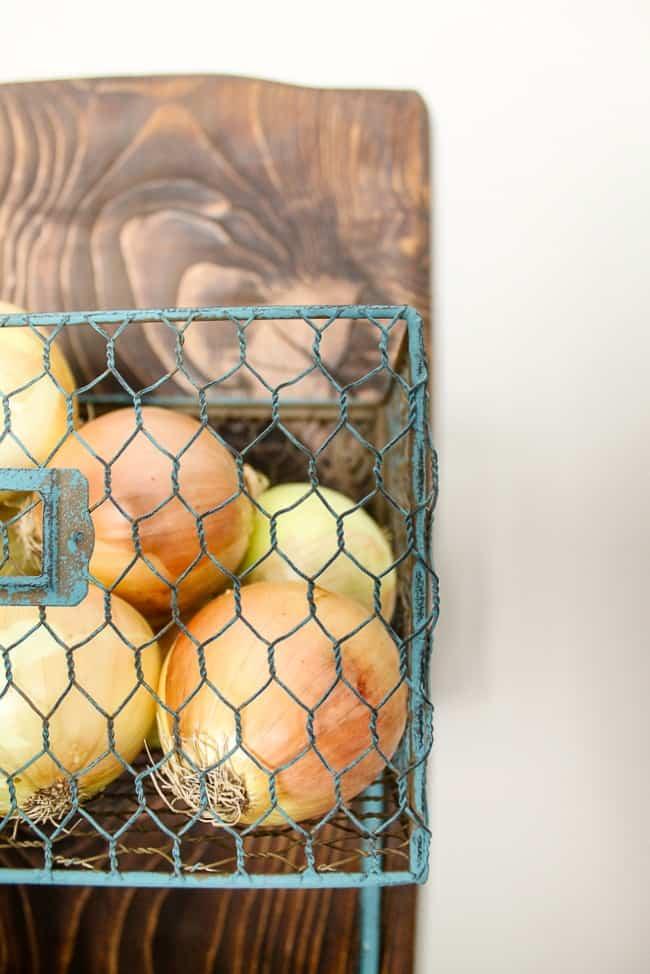how to DIY a produce rack