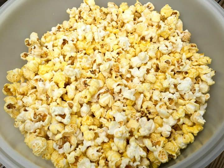 ingredients for caramel popcorn recipe