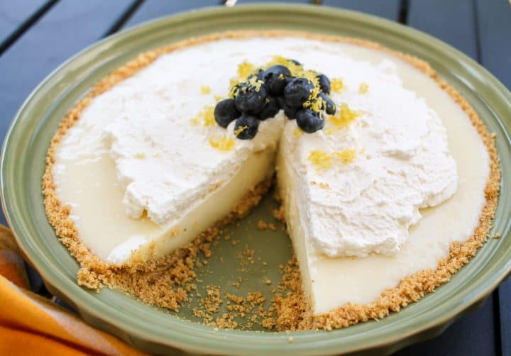 lemon ice box pie with blueberries recipe