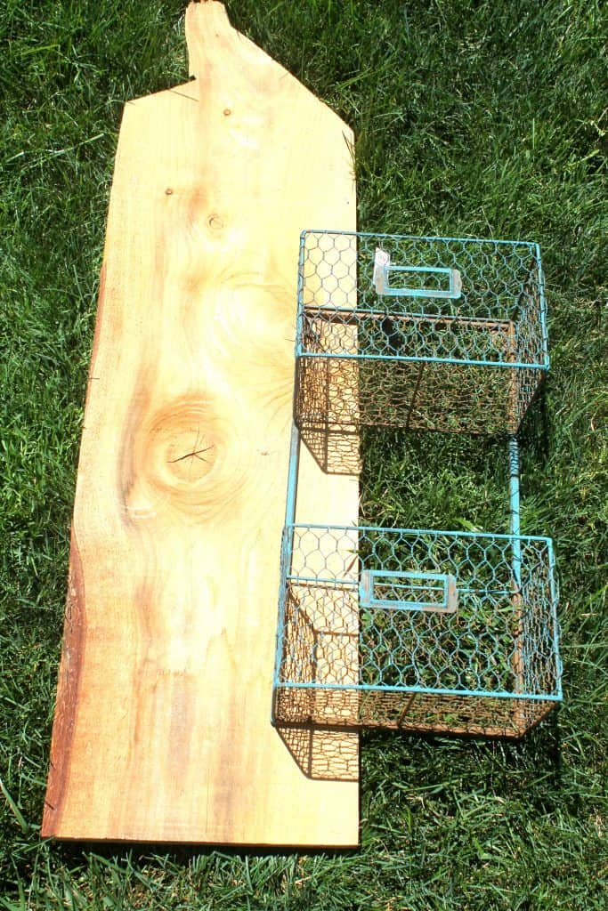 supplies needed for DIY produce rack