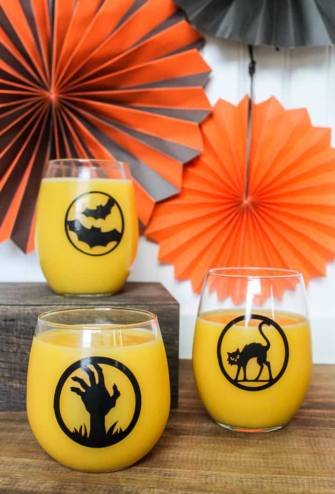 DIY Halloween glasses with Cricut