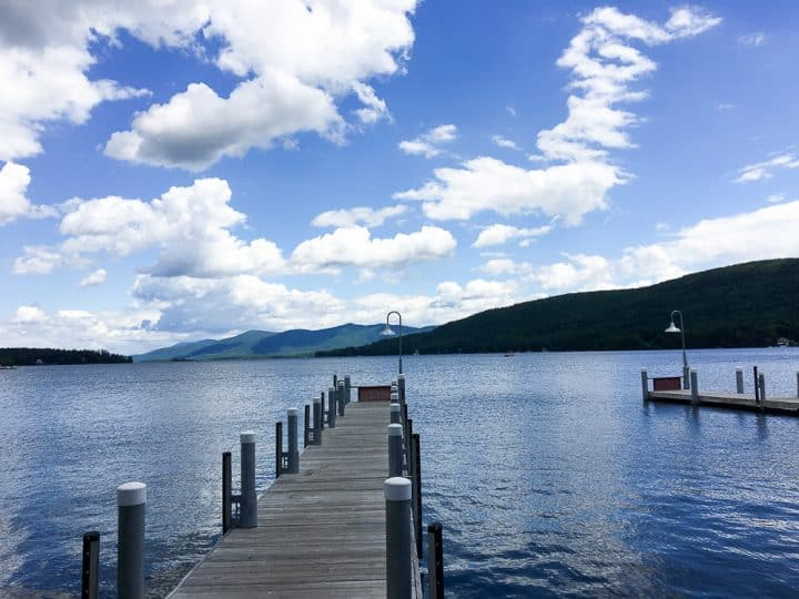 Fishing Piers Lake George NY_