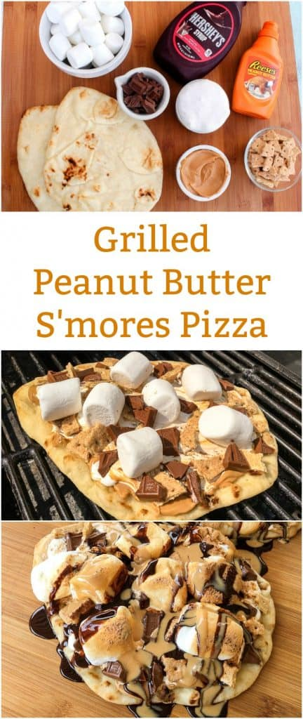 Grilled Peanut Butter S'mores Pizza Recipe
