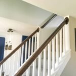 How to Paint High Walls on Stairs