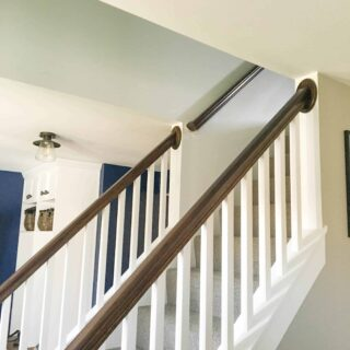 How to paintstairwell wall