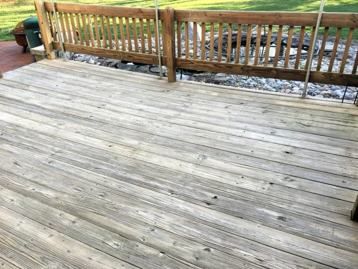 Intro how to prep a wood deck before staining