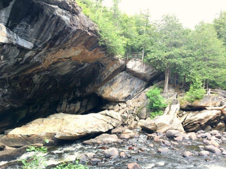 Natural Stone Bridge and Cave Lake George NY