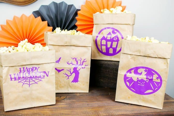 how to make Halloween bags with cricut machine