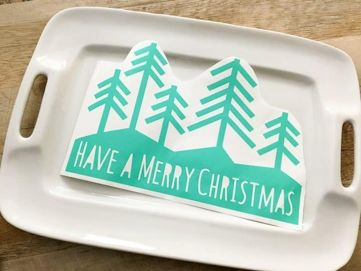 Christmas cookie tray with Cricut