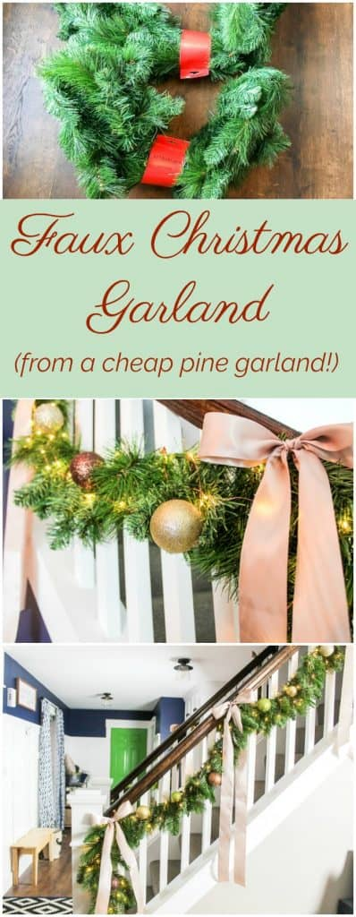 How to make a faux Christmas staircase garland