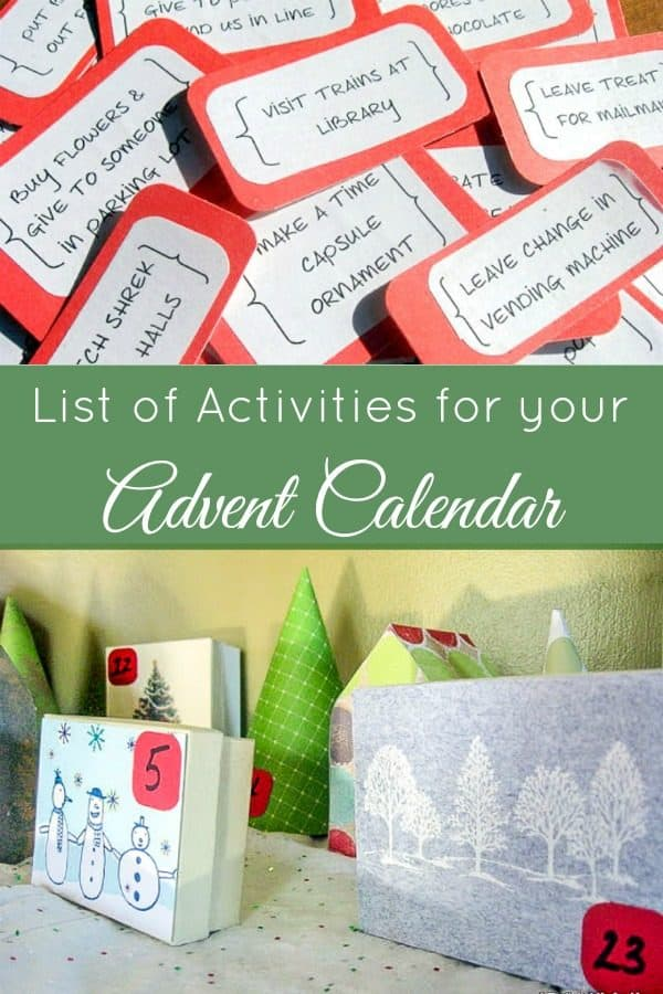 List of Activities for a Random Acts of Kindness Advent Calendar