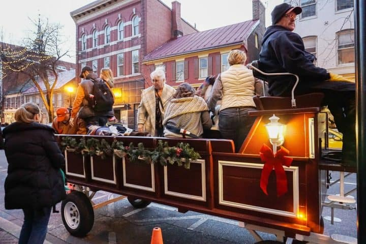 Christmas Carriage Rides through Frederick MD