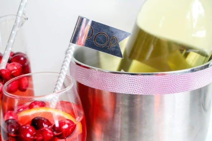 New Year's Eve DIY dessert drink bar Duck Tape